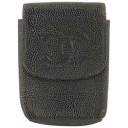Chanel Black Caviar Leather Mobile or Cigarette Case 41C1117