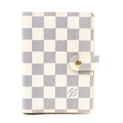 Louis Vuitton | Small Ring Agenda Cover, Damier Azur