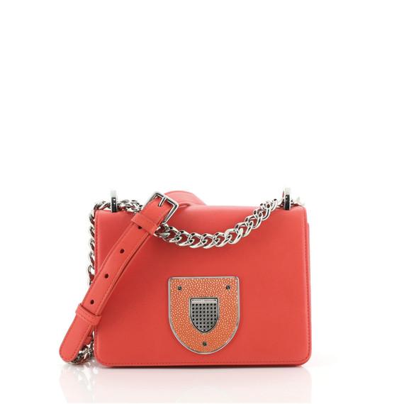Diorama Club Flap Bag Leather Small