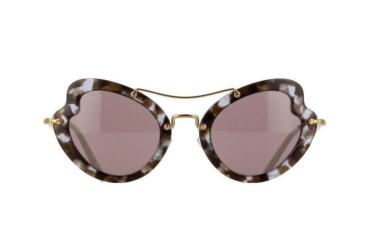 Miu Miu Prada Women's White Havana Sunglasses Smu11r