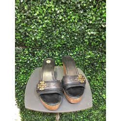 Tory Burch Size 7 Black Wedges