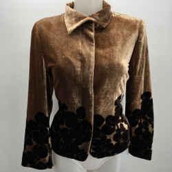 Etro Velvet Blazer Button Down Size 12