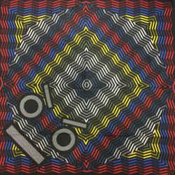 Fendi Multicolored Geometric Print Square Scarf
