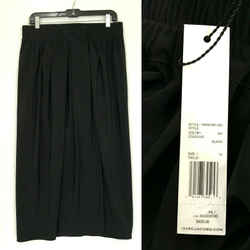 $425 New Nwt Marc Jacobs Black Pleated Wrap Skirt Size 12