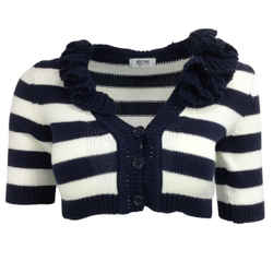 Moschino Striped Navy Blue & Ivory Sweater