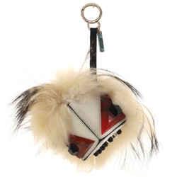 Monster Bag Charm Embellished Leather with Fur
