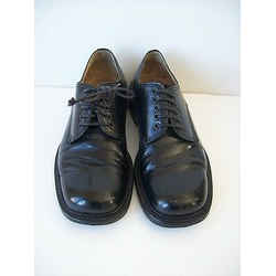 Dolce & Gabbana Black Leather Oxfords Shoes Sz 7 Euro 40