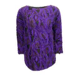 Dries van Noten Textured Purple Sweater