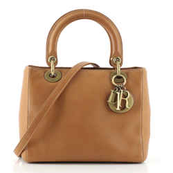 Vintage Lady Dior Bag Leather Medium