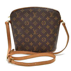 Louis Vuitton Drouot Monogram Canvas Shoulder Bag Lt893
