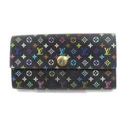 Louis Vuitton Black Monogram Multicolor Portefeuille Sarah Long Wallet  863259