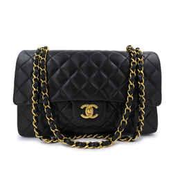 Chanel Vintage Medium Classic Double Flap Bag Lambskin 24k GHW