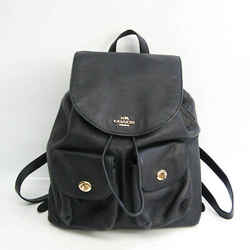 Coach Pebble Leather Billy F37410 Women's Leather Backpack Navy BF528054