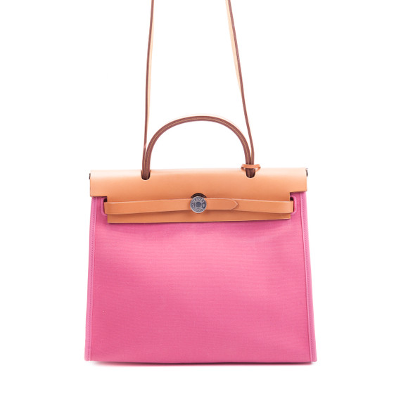 Herbag Pm Pink Canvas Top Handle