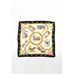 Hermes Plumes et Grelots Multicolor Silk Scarf