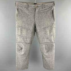 COMME des GARCONS HOMME PLUS Size S Grey Stitched Wool Blend Dress Pants