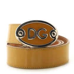 DG Logo Belt Leather Medium 90