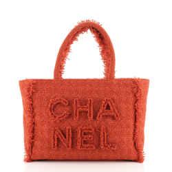 Giant Logo Shopping Bag Quilted Tweed Medium