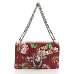 Dionysus Bag Blooms Print Leather Small