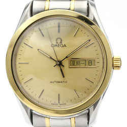 Polished OMEGA Classic Day Date 18K Gold Steel Mens Watch 166.0299 BF510543