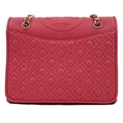 Tory Burch Pink Medium Quilted Fleming Flap Shoulder Bag