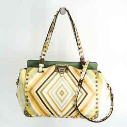 Valentino Garavani Rock Studs Women's Leather Handbag,Shoulder Bag Mult BF518216