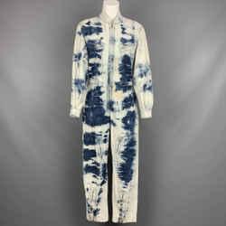 STELLA McCARTNEY SS 2020 Size 4 Blue Cotton Acid-Wash Denim Jumpsuit
