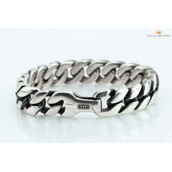 David Yurman 14.5mm Silver Curb Chain Bracelet