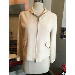 Lauren Ralph Lauren Size Ps Ivory Wool Blend Jacket - 527-5-12119