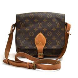 Vintage Louis Vuitton Cartouchiere MM Monogram Canvas Crossbody Bag LT838
