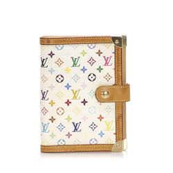Vintage Authentic Louis Vuitton White Monogram Multicolore Agenda PM Spain