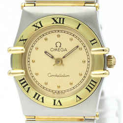 Polished OMEGA Constellation 18K Gold Steel Ladies Watch 795.1080 BF517402