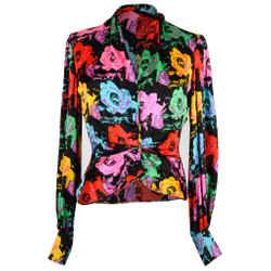 Emanuel Ungaro Vintage Blouse Floral Print Top fits 6