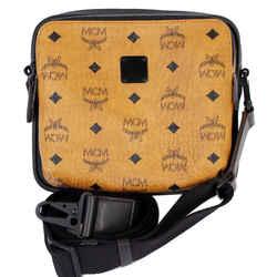 Mcm 1976 Square Medium Visetos Canvas Crossbody Bag Cognac