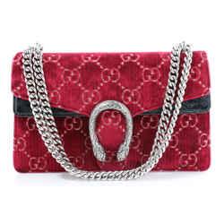 Gucci GG Monogram Velvet Dionysus Shoulder Bag