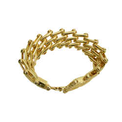 Authentic Christian Dior Vintage Bracelet GP Link Jewelry Accessory
