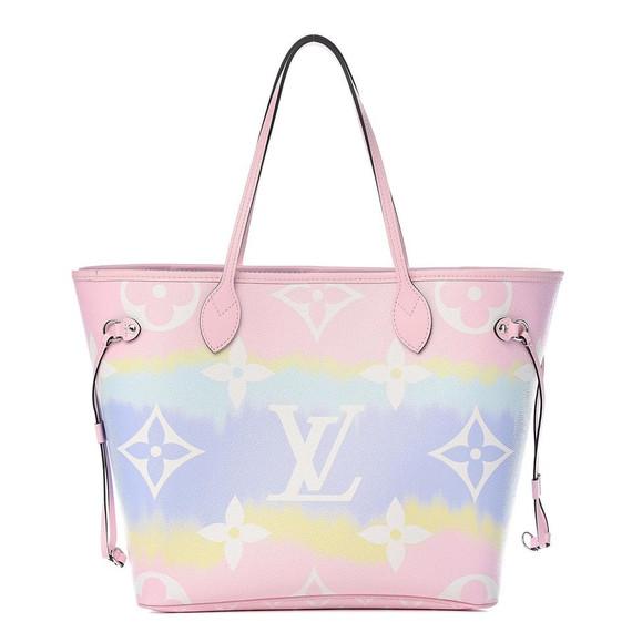 Louis Vuitton Escale Neverfull MM Pink Tye Dye Pastel 18LV617