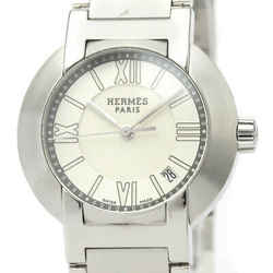 Polished HERMES Nomade Steel Leather Auto Quartz Ladies Watch NO1.210 BF530160