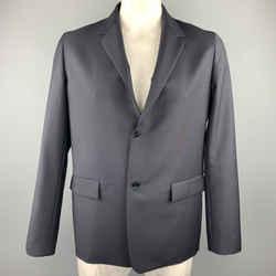 Jil Sander Size 42 Black Wool / Mohair Notch Lapel Sport Coat