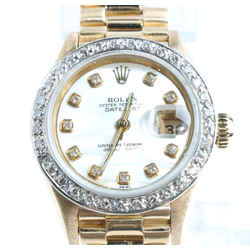 Rolex President 69178 Datejust MOP Diamond Dial Bezel Watch