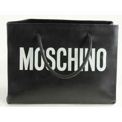Moschino Logo Print Tote - Black