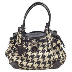 Moschino Woven Black and White Leather Shoulder Bag