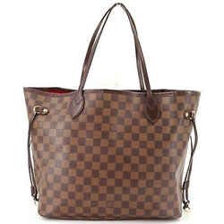 Auth Louis Vuitton Damier Ebene Canvas Neverfull Mm Tote Handbag N51105 Spain
