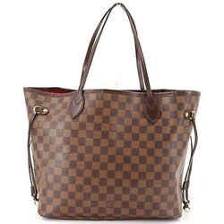 Auth Louis Vuitton Damier Ebene Canvas Neverfull Mm Tote Handbag N51105 Spain