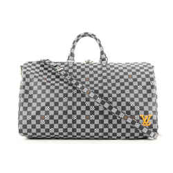 Louis Vuitton Black Distorted Damier Keepall Bandouliere 50 Duffle Bag 330lvs223