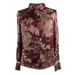 Louis Vuitton Top Asian Print Lace Detail So Charming 34 / 4