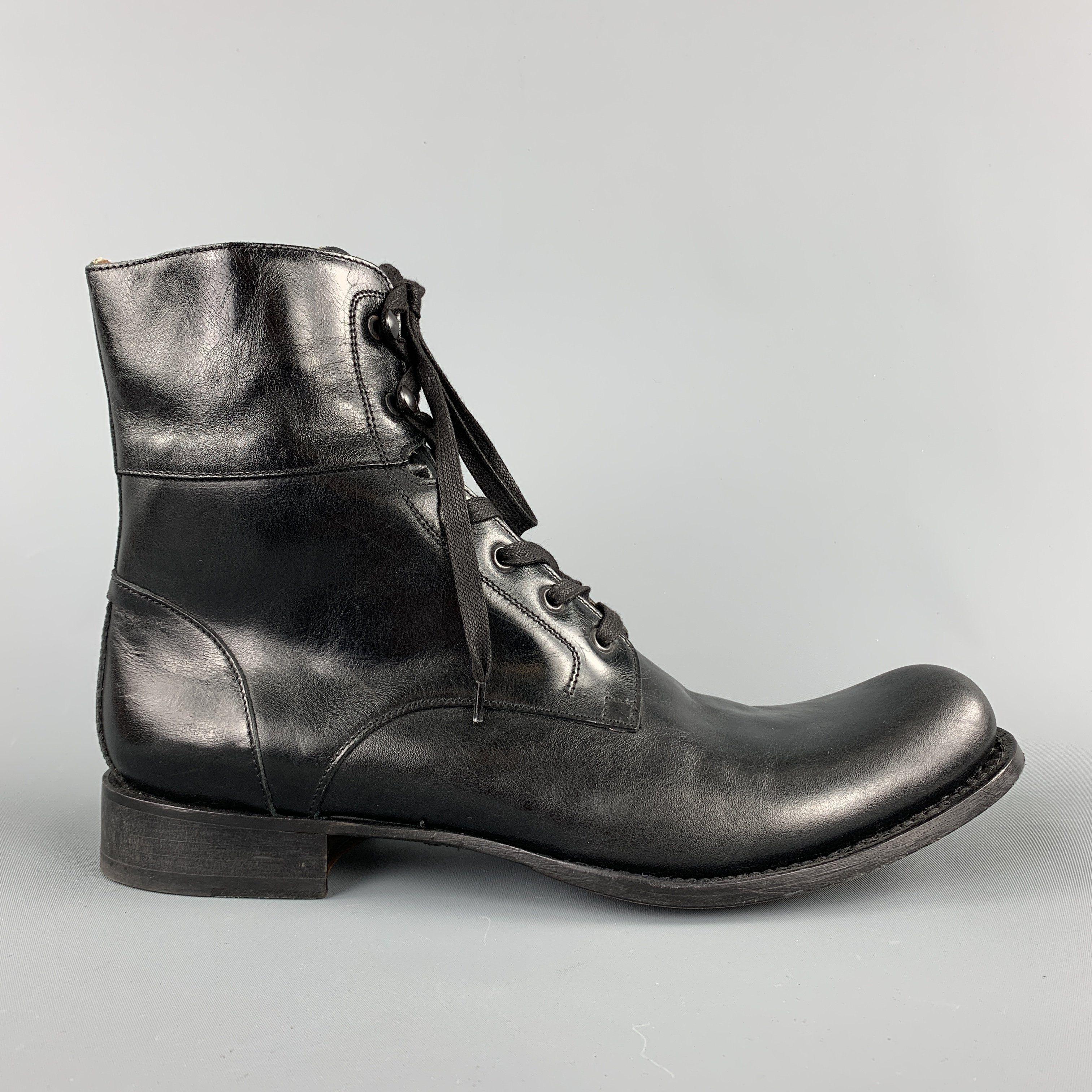 John Varvatos Size 12 Black Leather