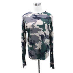 Zadig & Voltaire Camouflage Cashmere Beaded Crewneck Sweater Sz M