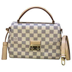 """Louis Vuitton Croisette Damier Azur Canvas Cross Body Bag 9.4""""l X 3.3""""w X 9.1""""h"""