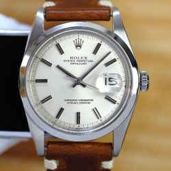 Rolex Vintage 1970's Datejust Silver 36mm Watch